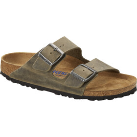 Birkenstock Arizona Sandals Oiled Leather Narrow, faded khaki